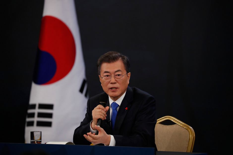 Südkoreas Präsident Moon Jae-in.