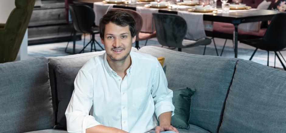 """""""Mit unserem Konzept haben wir das Beste aus digitaler und realer Einkaufswelt verbunden."""" Maximilian Wetscher(GF Wetscher Max)"""