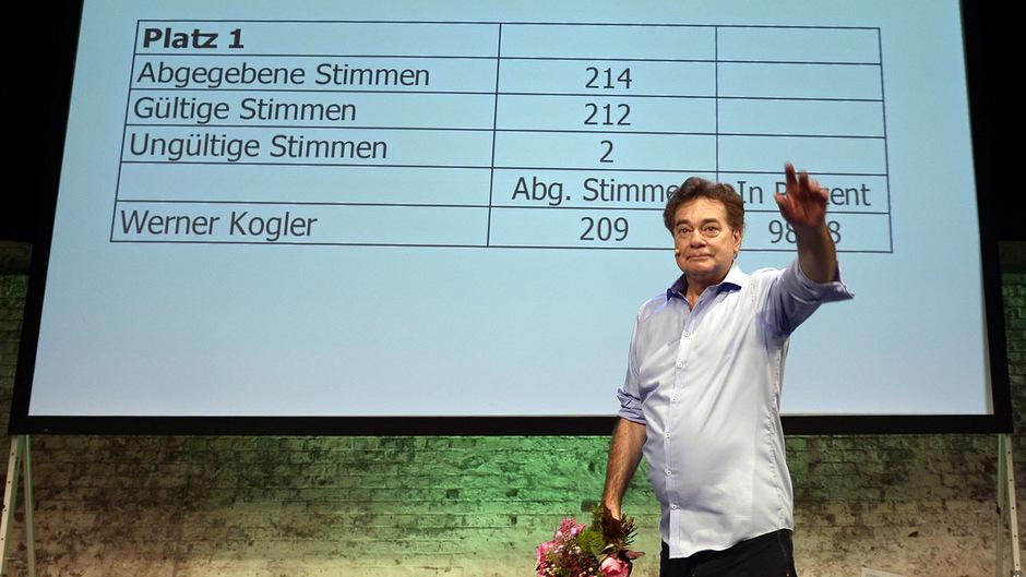 Bundessprecher Werner Kogler bekam eine größere Mehrheit als seine Vorgänger - imklusive Jetzt-Bundespräsident Alexander Van der Bellen.