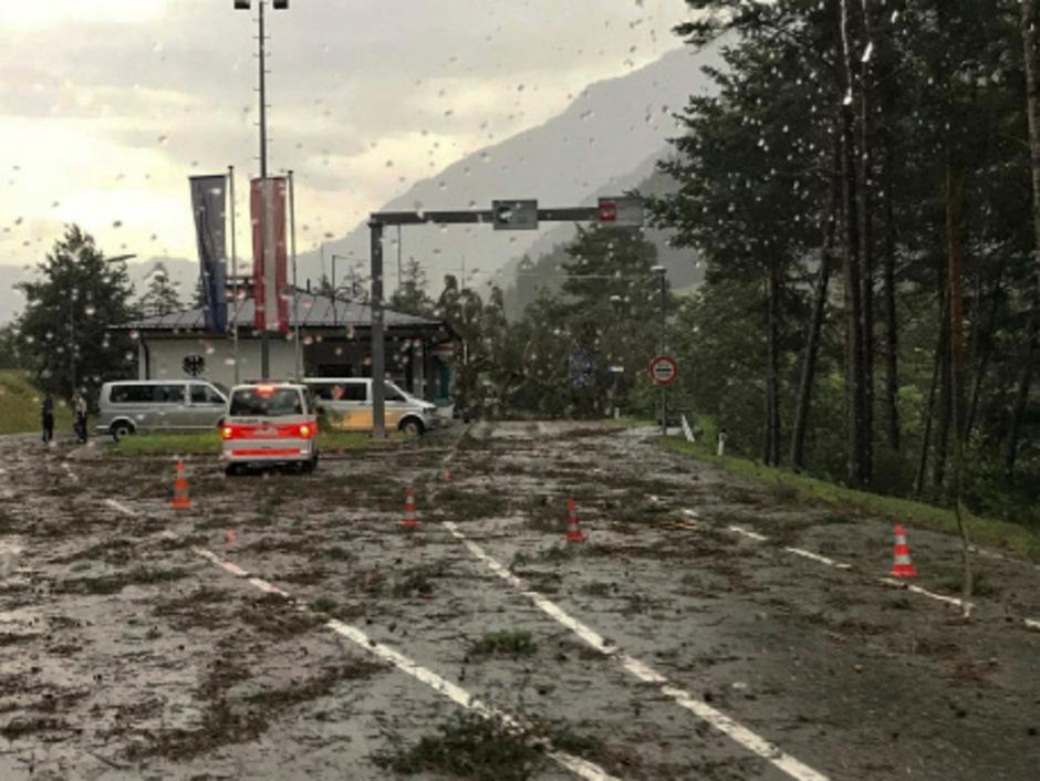 An mehreren Stellen wurde die Straße verlegt.