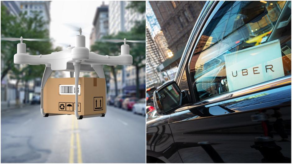 Pakete, die online bestellt werden, könnten schon bald mit Drohnen geliefert werden. Neue Plattformen wie Uber erfordern Kommunikation.