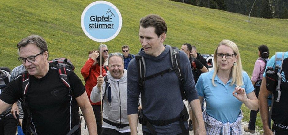 Gipfelstürmer will er mit Platter, Margarete Schramböck und BM Werner Frießer am 29. September sein.