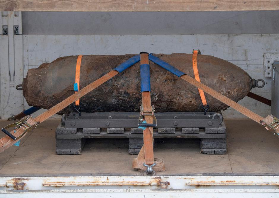 500 Kilo wiegt die Fliegerbombe aus dem Zweiten Weltkrieg.