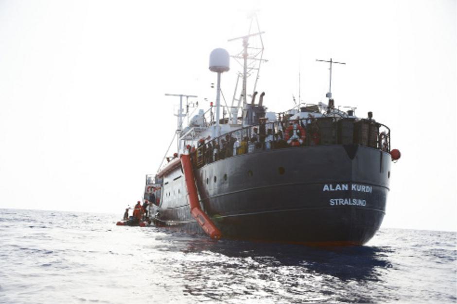 Das Rettungsschiff Alan Kurdi.