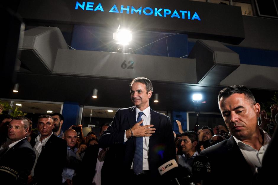 Kyriakos Mitsotakis sprach den Griechen am Sonntagabend nach seinem Wahlsieg Mut zu.