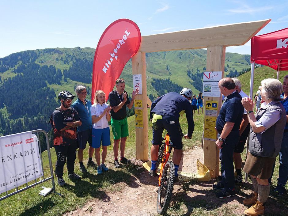 Der Bike-Trail vom Hahnenkamm wurde am Wochenende offiziell eröffnet und auch gleich ordentlich befahren.