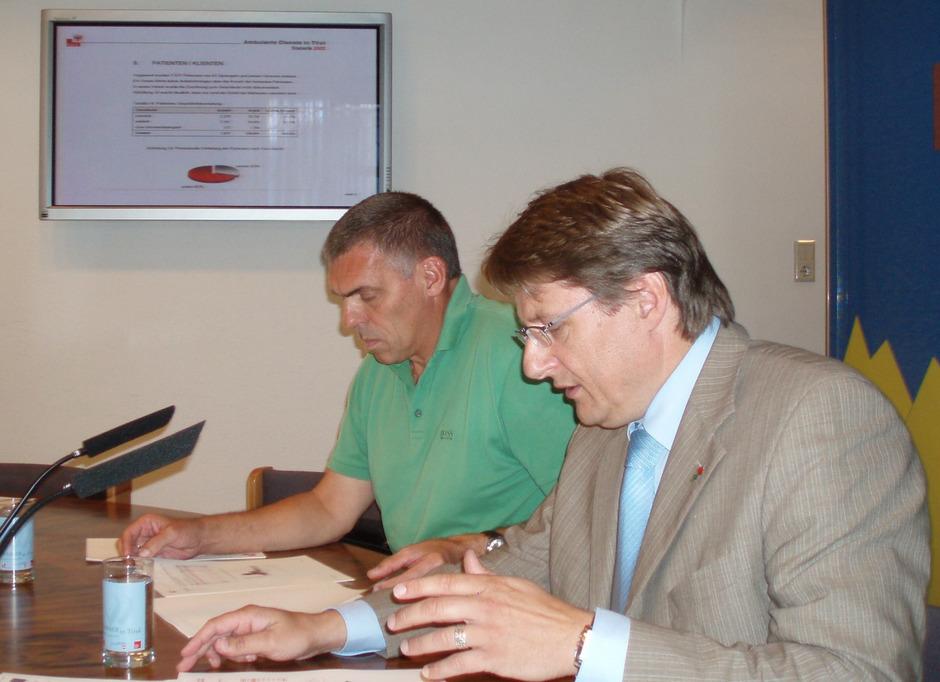 Peter Logar (l.) war ehemals Flüchtlingskoordinator, Hannes Gschwentner als Sozialreferent für das Flüchtlingswesen zuständig.
