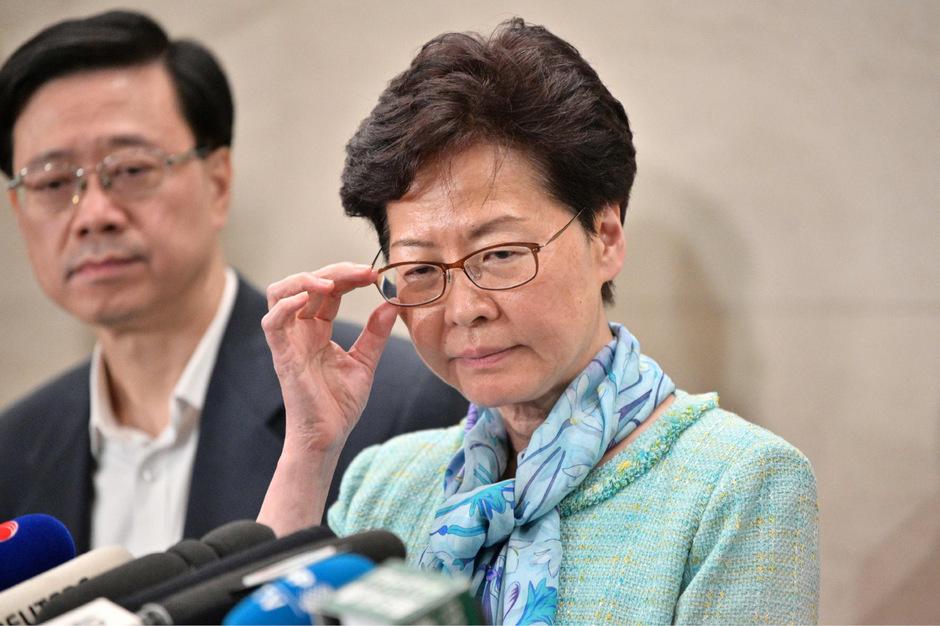 Die Regierungschefin Hongkongs Carrie Lam.