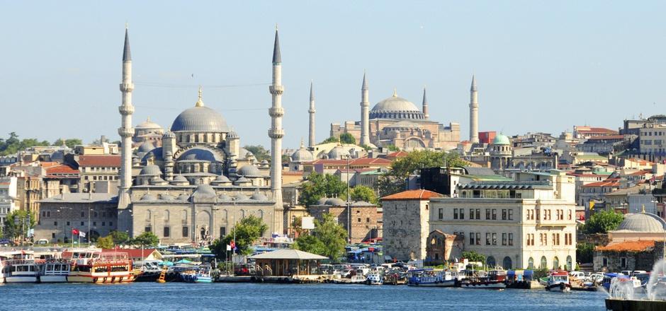 Blick auf Istanbul.