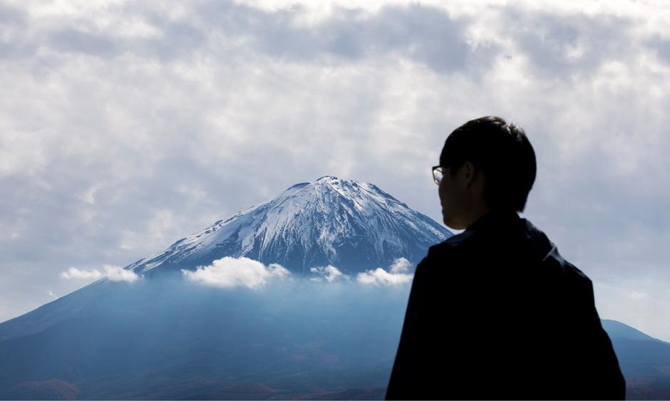 Der Mount Fuji in Japan.