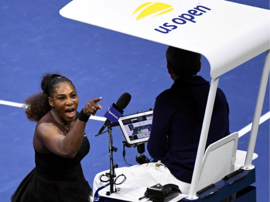 Serena Williams ging auf Schiedsrichter Carlos Ramos los.