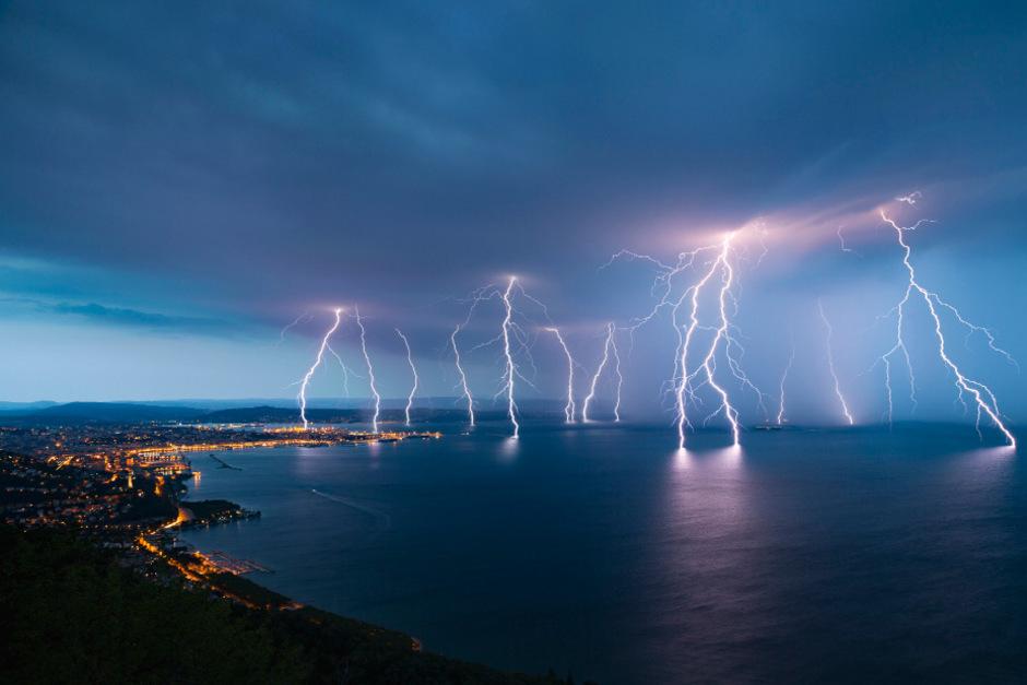 Auch in Triest kam es zu heftigen Gewittern.