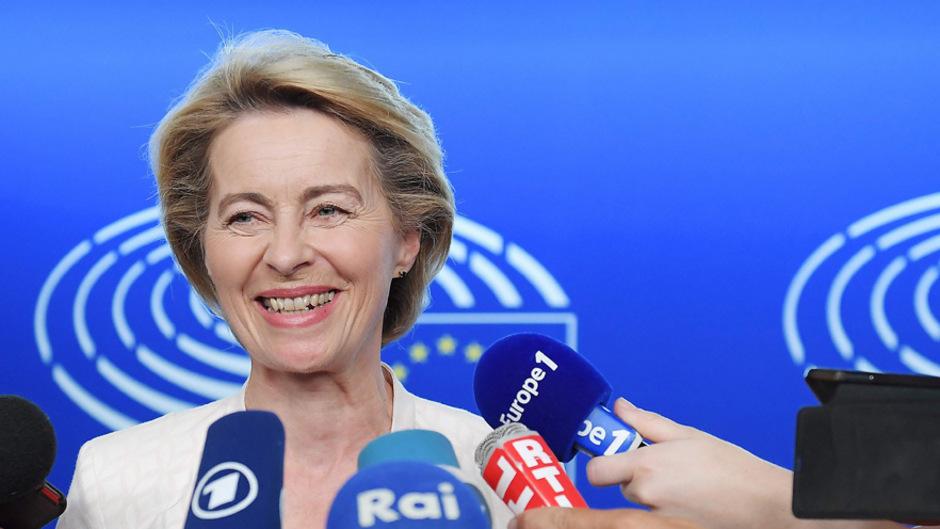 Ursula von der Leyen wurde von den EU-Staats- und Regierungschefs zur Kommissionspräsidentin nominiert. Das EU-Parlament stimmt aber noch über die Personalie ab.