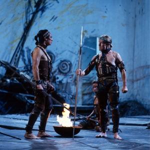 """Tobias Moretti in Shakespeares """"Troilus und Cressida"""", 1986 in den Münchner Kammerspielen."""