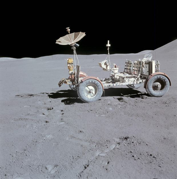 Left vehicle Apollo 15 mission in 1971.
