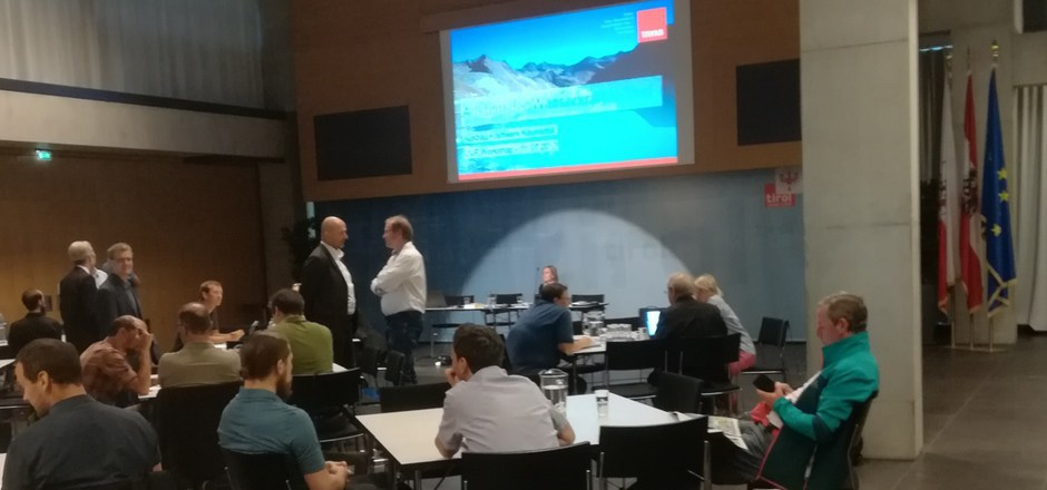 Im Landhaus ging es gestern um das größte Kraftwerksprojekt in Tirol. 2012 wurde die Kaunertal-Erweiterung eingereicht.