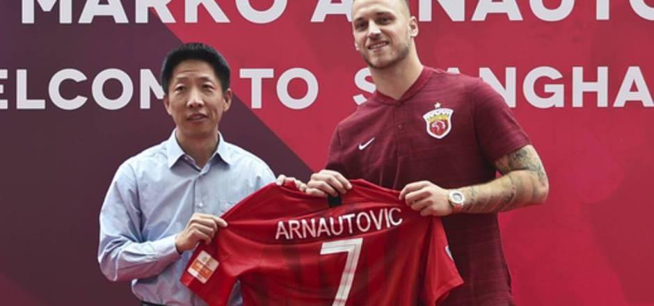 Marko Arnautovic läuft bei Shanghai SIPG mit der Nummer 7 auf.