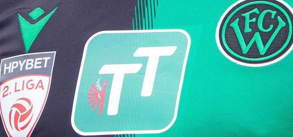 Unter dem TT-Logo ist auf der neuen Dress des FC Wacker Innsbruck noch Platz für einen neuen Hauptsponsor.