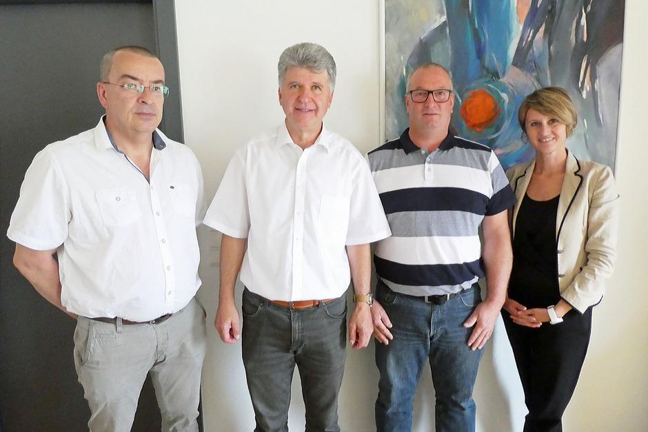 Bei der Angelobung: (v.l.) BHStv. Konrad Geisler, BM Klaus Ziernhöld, Vize-BM Stefan Schwarz und BH Katharina Rumpf.