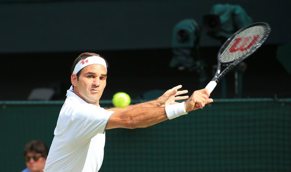 Roger Federer greift in Wimbledon nach seinem neunten Titel.