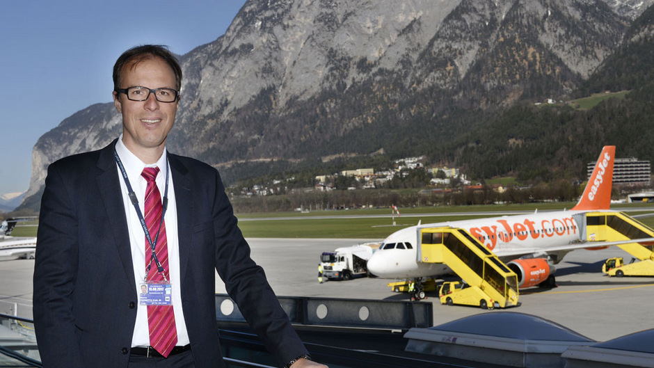 Flughafen-Chef Marco Pernetta erwartet trotz schwächelndem Briten-Markt für das Gesamtjahr einen neuen Passagier-Höchststand. (Archivfoto)