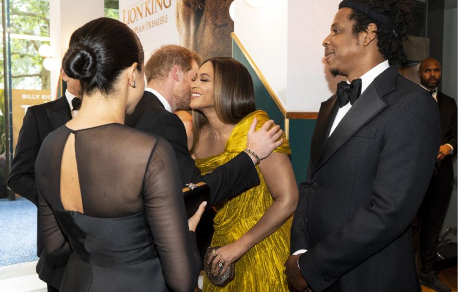 Beyoncé und Jay-Z begrüßen das royale Paar herzlich.