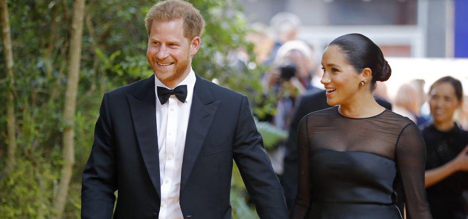 """Prinz Harry und Herzogin Meghan treffen bei der Europa-Premiere des Filmes """"König der Löwen"""" in London ein."""