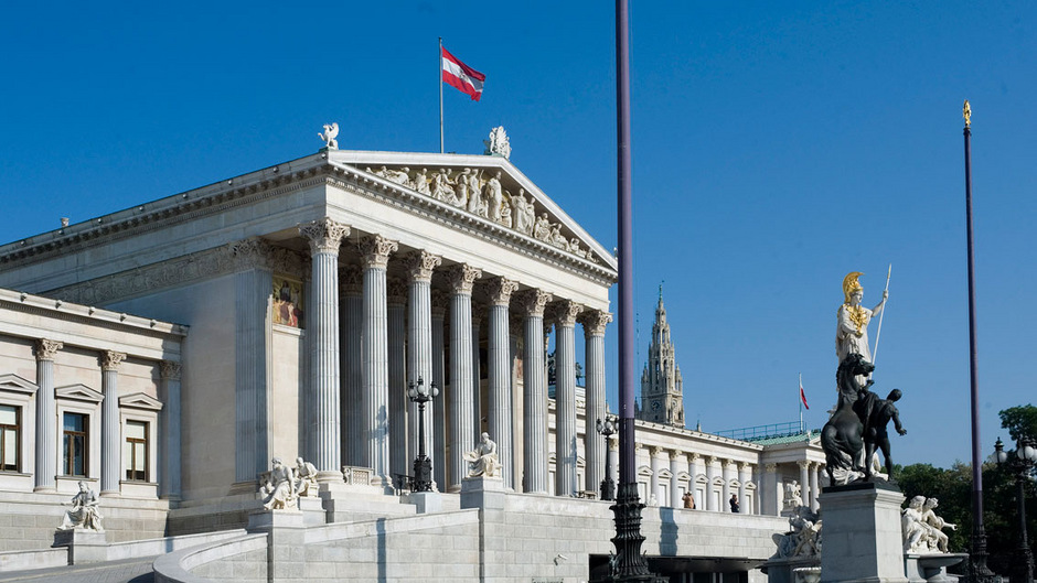 Das österreichische Parlament.