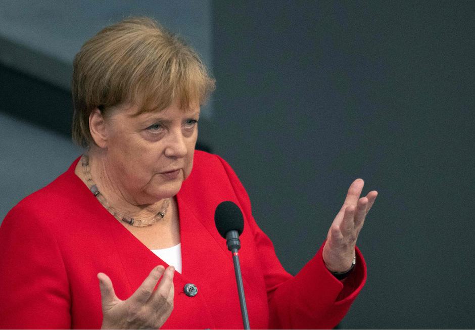 Die deutsche Bundeskanzlerin Angela Merkel (CDU).