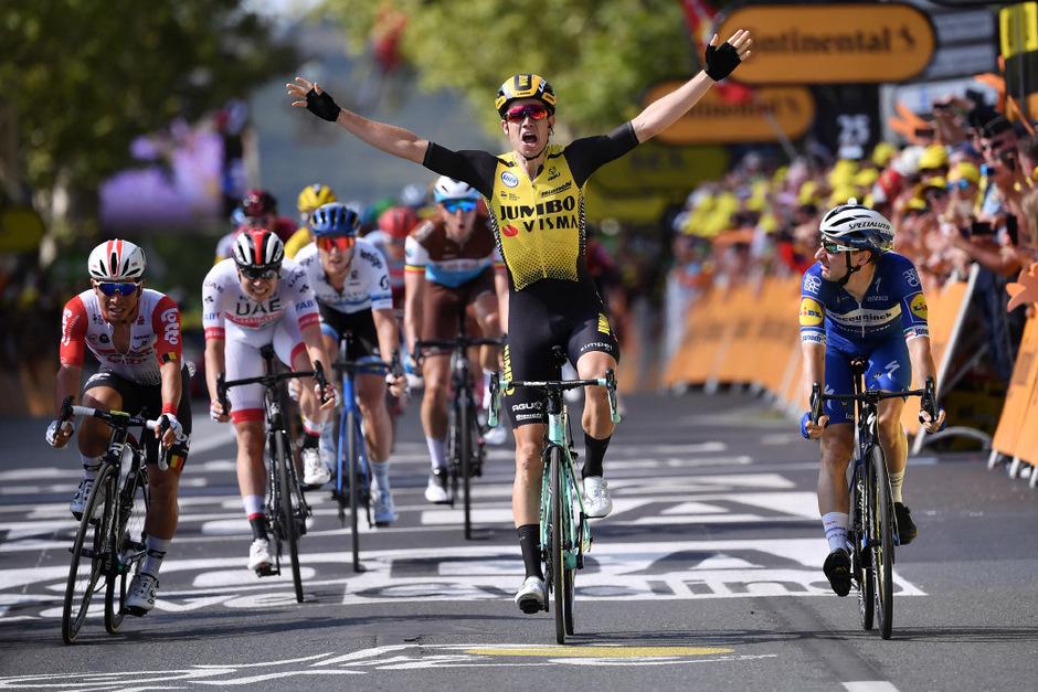 Der Belgier Wout van Aert sicherte sich den Tagessieg.