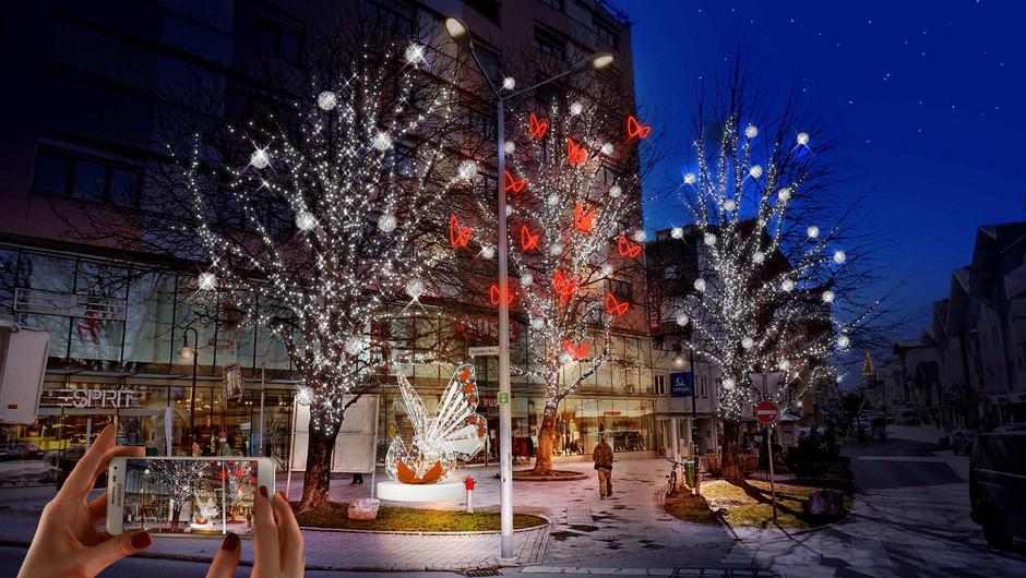 So soll nach dem Lichtkonzept der Firma MK Illumination der Platz vor dem Sun-Tower aussehen.