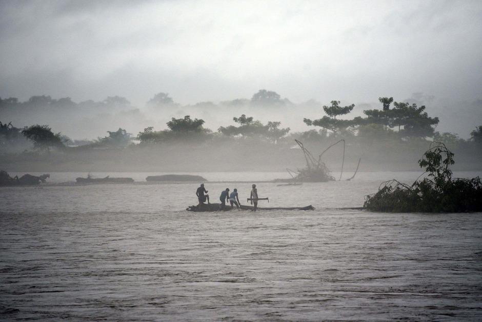 In Assam herrschte Alarmstufe Rot, mehr als 80.000 Menschen mussten ihre Häuser verlassen.