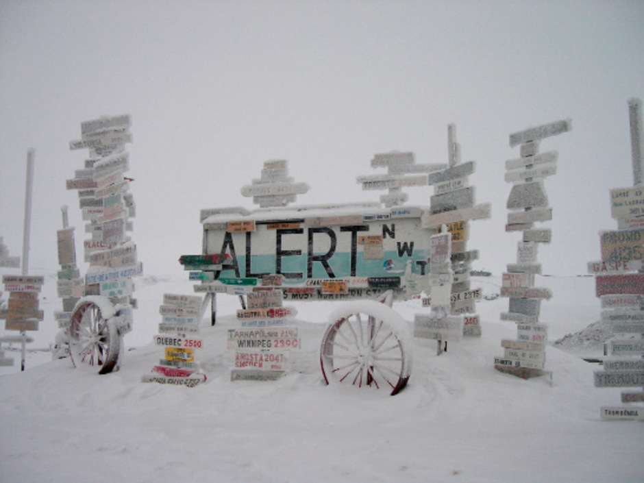 Alert in Kanada ist die nördlichste dauerhaft bewohnte Siedlung der Welt.