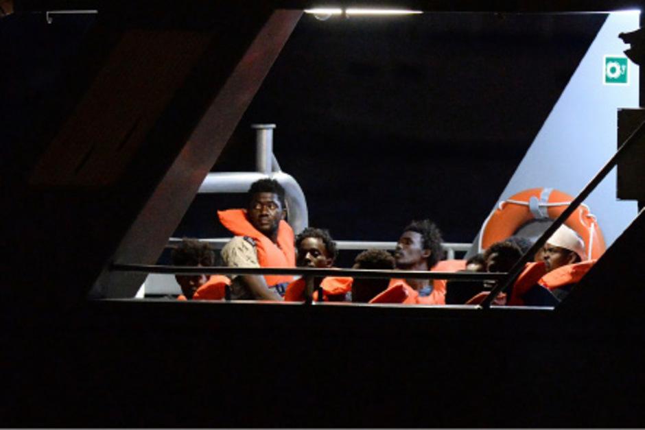 Migranten auf einem Rettungsschiff, das Anfang Juli in Malta anlegte.
