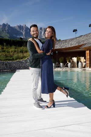 Präsentierte Hits aus seinem neuen Album: Giovanni Zarrella mit seiner Frau Jana Ina Zarrella.