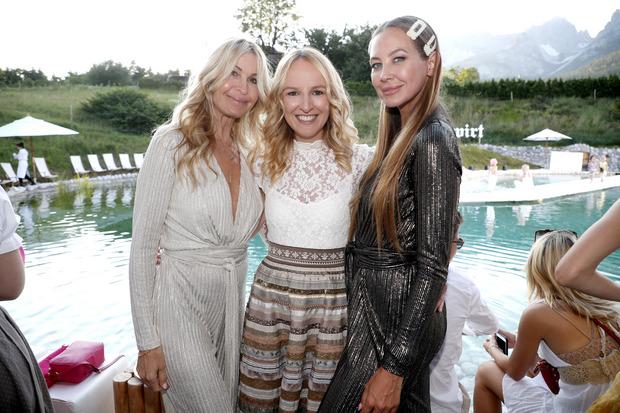 Melissa Odabash präsentierte ihr Bade- und Loungewear-Label mit Gastgeberin Maria Hauser und Alessandra Meyer-Wölden (v.l.).