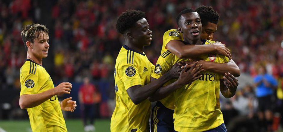 Eddie Nketiah sorgte für den späten Arsenal-Siegtreffer.
