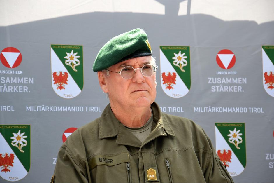 Blick in die Zukunft: Militärkommandant Herbert Bauer wartet auf einen Nachfolger.