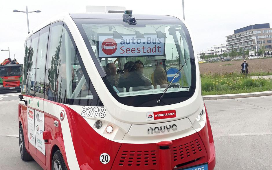 Seit Juni rollten zwei autonome Elektrobusse durch die Seestadt Aspern in Wien.