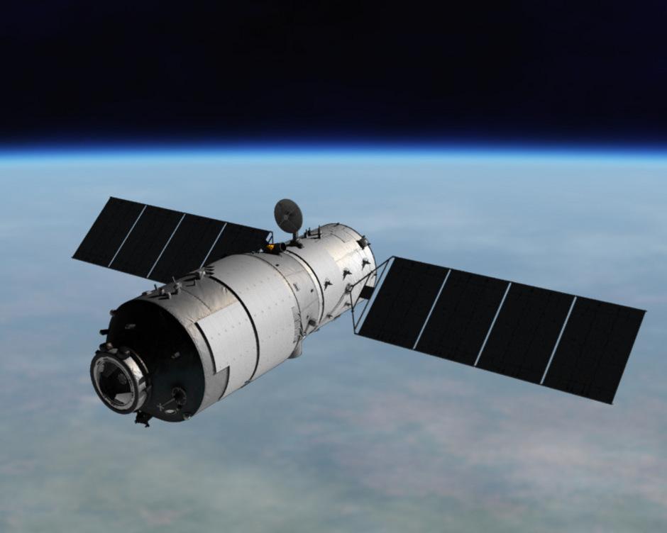 """Chinas Raumlabor """"Tiangong 2"""" war fast drei Jahre lang im Einsatz. Zwei chinesische Astronauten wohnten 2016 über 29 Tage darin. Es war der längste bemannte Flug in der chinesischen Raumfahrtgeschichte."""