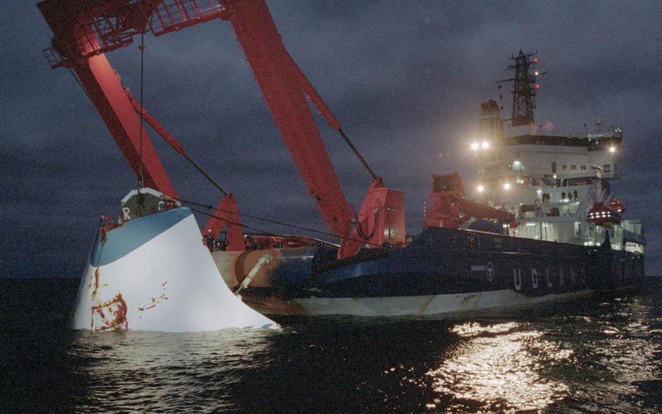 """Die Ostseefähre """"Estonia"""" sank in der Nacht zum 28. September 1994. 852 Menschen starben."""