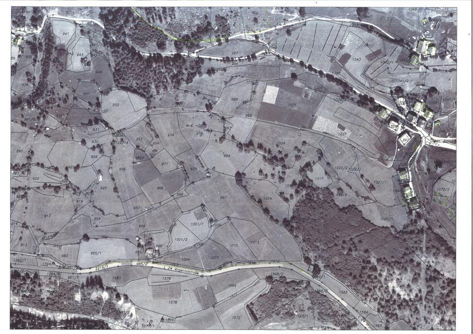 Vor der Grundzusammenlegung war Prägraten in über 2000 einzelne Grundstücke aufgesplittert ...