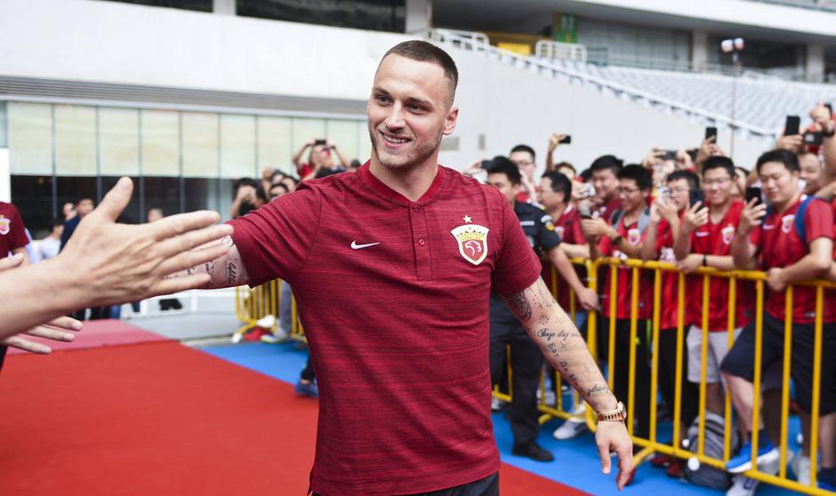 Erstes Spiel, erstes Tor: Marko Arnautovic ist in China gut angekommen.