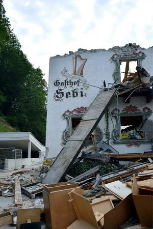 Das traditionsreiche Gasthaus Sebi verschwand für immer.