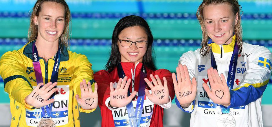 19 Jahr, Superstar: Margaret MacNeil holte über 100 m Delfin Gold und entthronte Olympiasiegerin Sarah Sjöström.