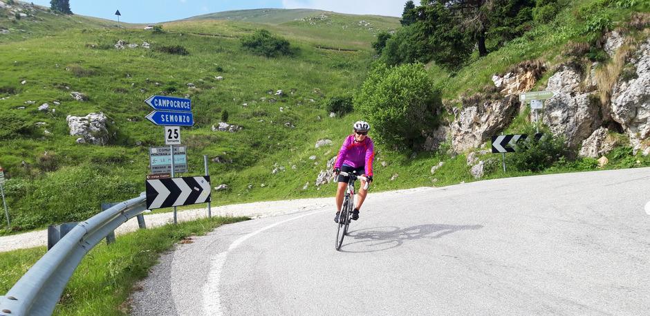 Für die Abfahrt zurück nach Bassano wählen wir die Route, welche nach Semonzo führt.