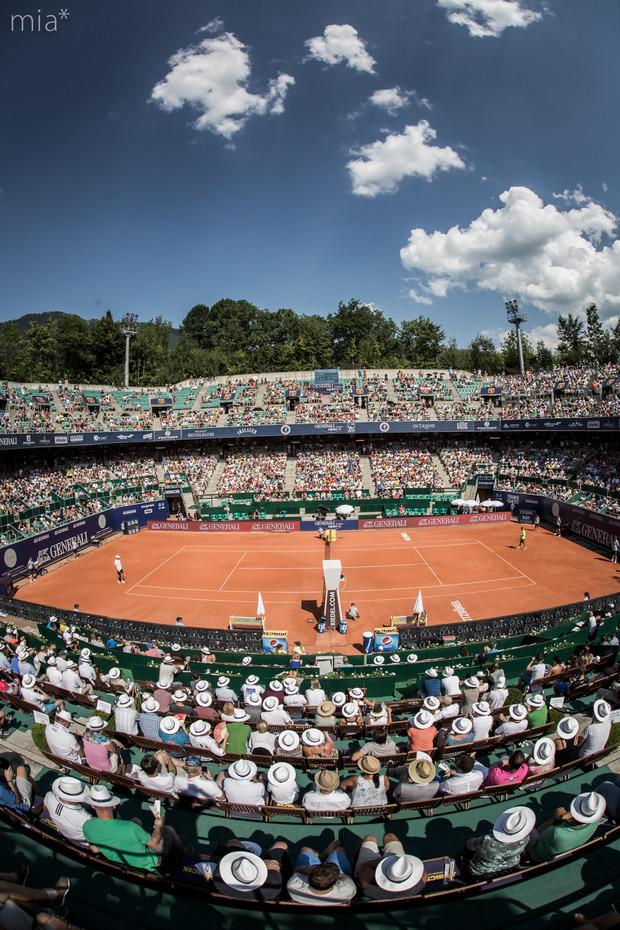 Am Samstag startet das Generali Open im Tennisstadion Kitzbühel.