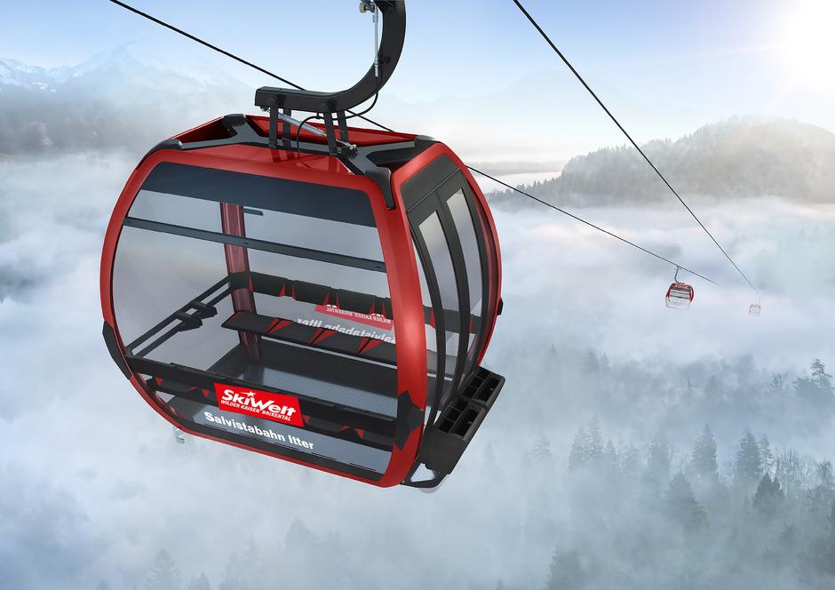 Die neue Bergstation der Salvistabahn wird auf der Kleinen Salve errichtet.