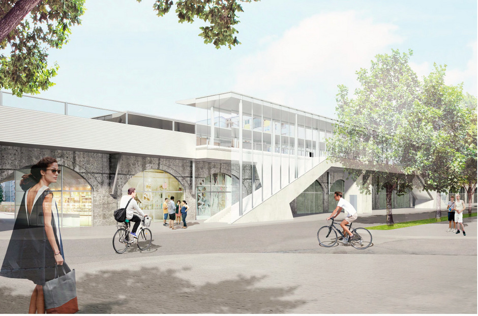 Die Baumeisterarbeiten für den S-Bahn-Halt müssen neu ausgeschrieben werden, die Inbetriebnahme dürfte sich um ein Jahr verzögern.Visualisierung.