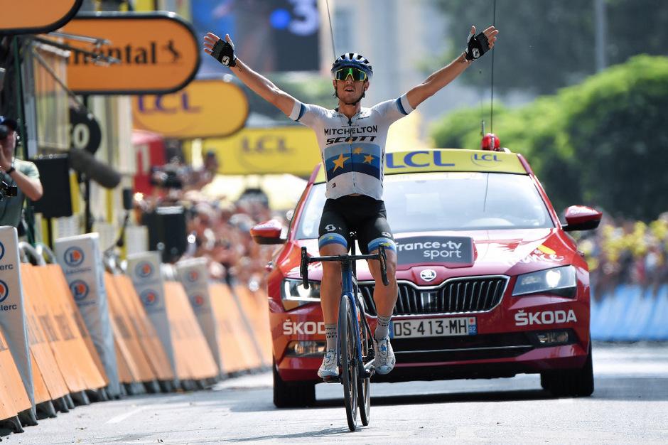 Trentin hatte bei der Tour schon 2013 und 2014 je einmal triumphiert.